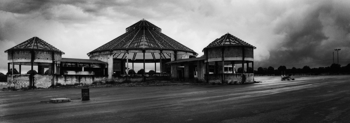 Ruin of a gasoline station