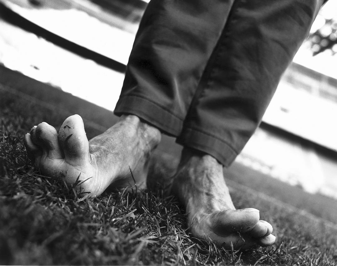 The feet of Giuseppe Bergomi for Adidas