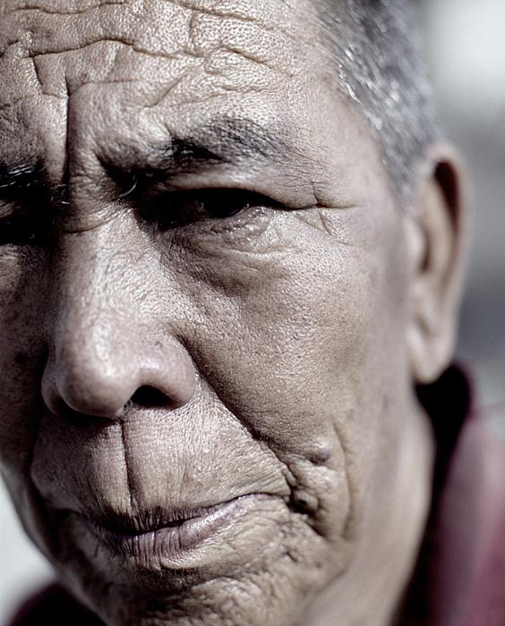 Old Buddhist monk